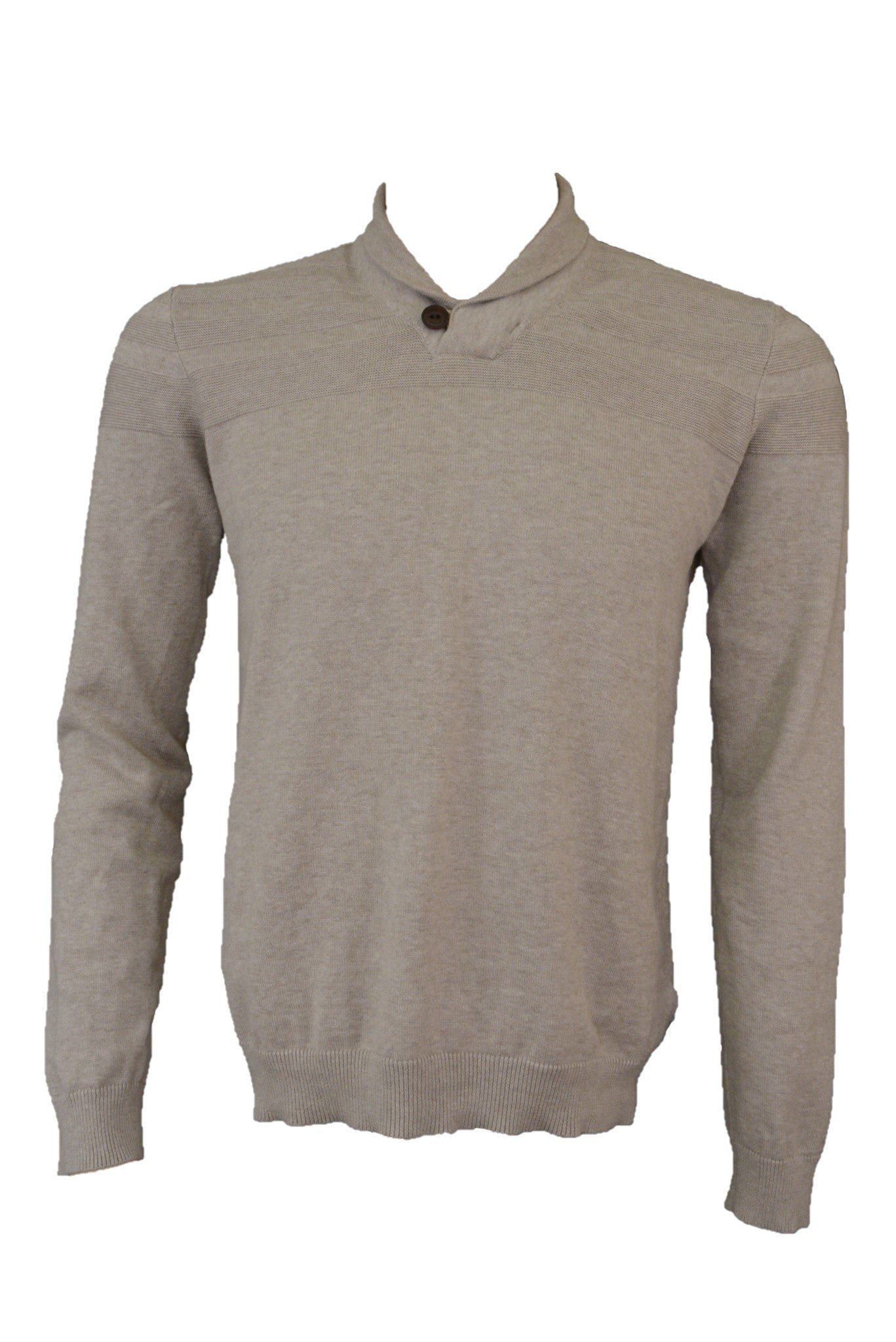 Ted Baker fawn cotton knit jumper with collar
