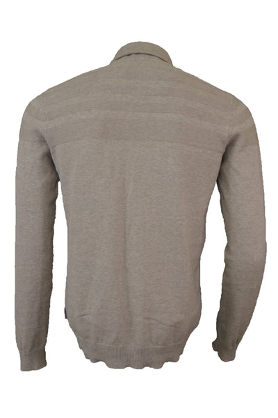 Ted Baker fawn cotton knit jumper, back view