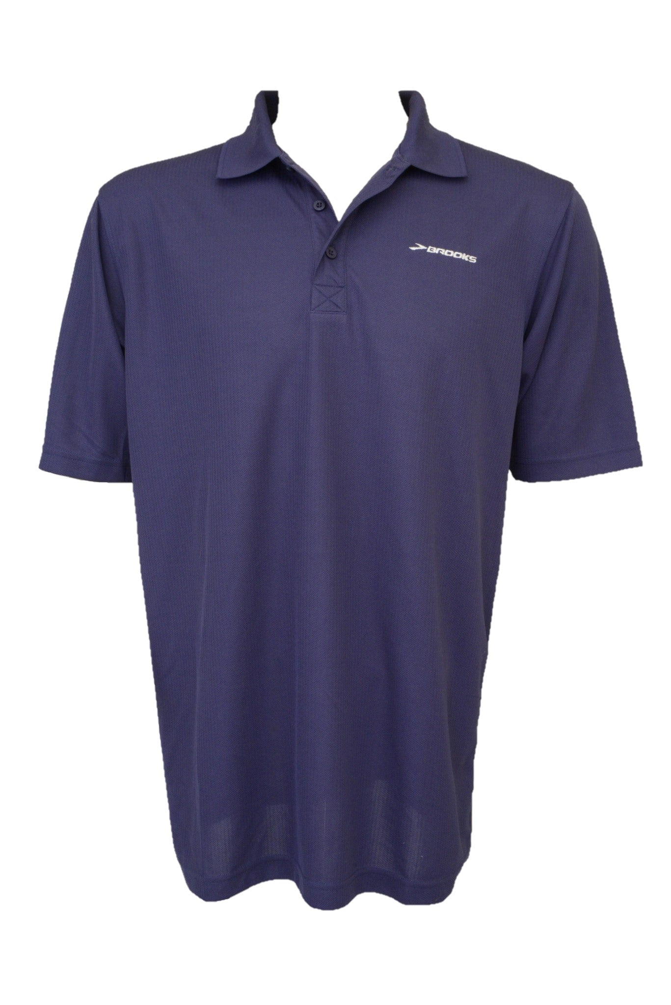 Brooks men's blue polo sports top