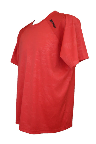 AND1 preloved red sport t-shirt, side view