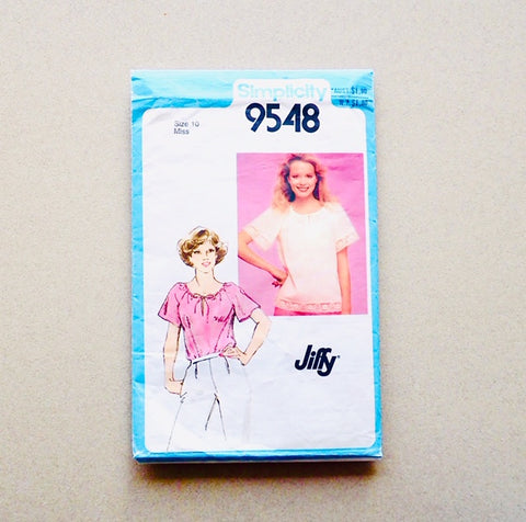 Simplicity Jiffy vintage sewing pattern 9548 front of packet