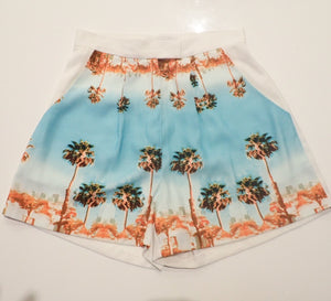 Finders Keepers Los Angeles/palm tree tailored shorts front
