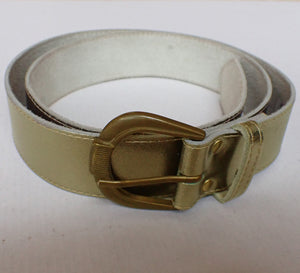 Joyke gold leather belt