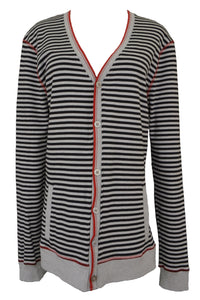 Ben Sherman preloved unisex striped cotton cardigan