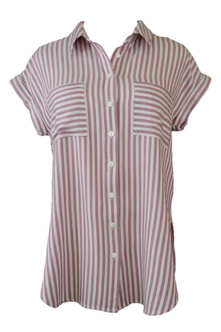 Decjuba women's striped shirt, front view
