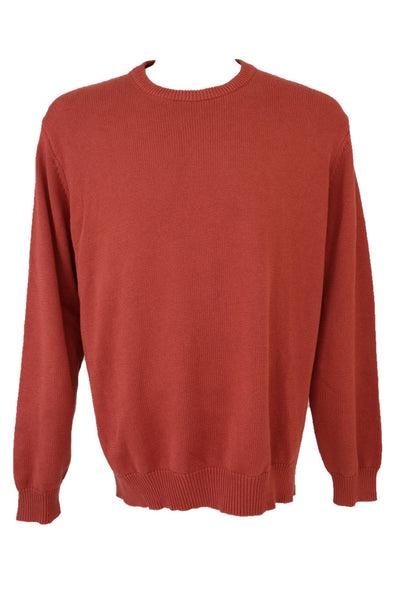 Gazman men's preloved red cotton knit jumper