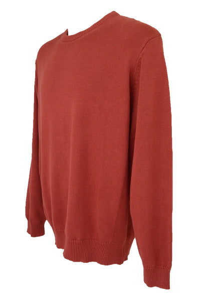 Gazman men's preloved red cotton knit jumper, side view