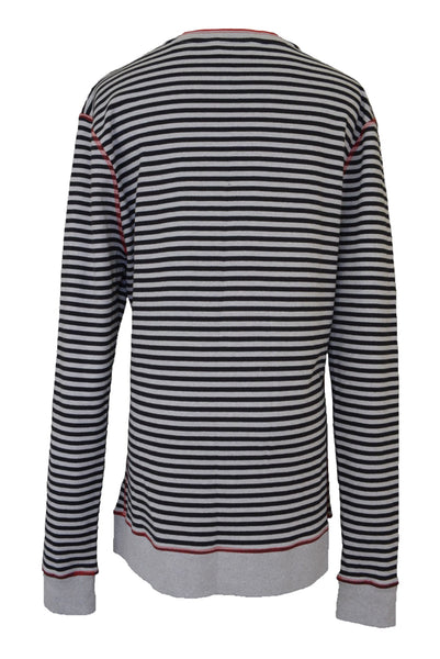 Ben Sherman preloved unisex striped cotton cardigan, back view