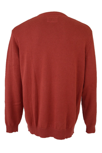 Gazman men's preloved red cotton knit jumper, back view