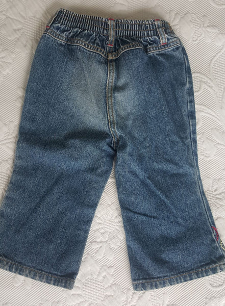 Gymboree toddler denim jeans, back view