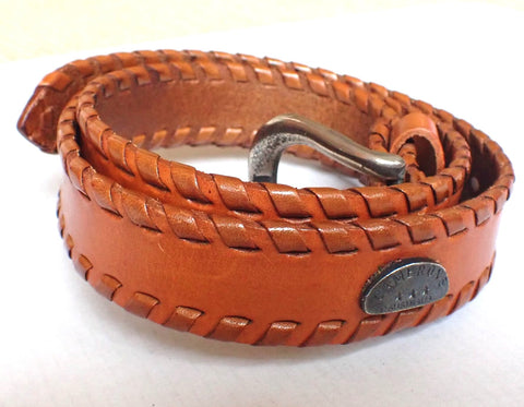 Vintage tan leather belt