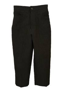 Toddler's pinstripe suit trousers, front view