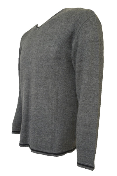 Preloved vintage Target men's grey jumper, side view.