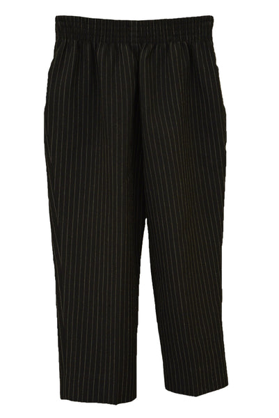 Toddler's pinstripe suit trousers, back view