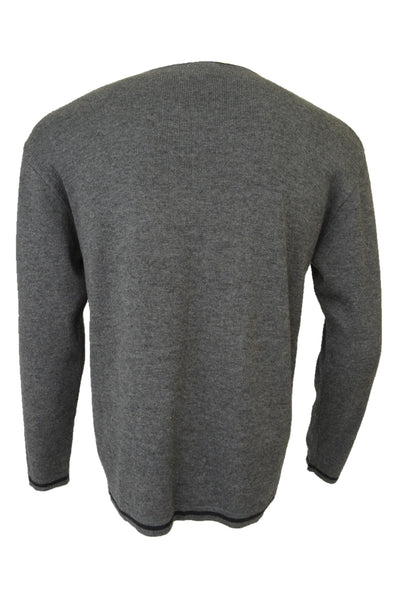 Preloved vintage Target men's grey jumper, back view.