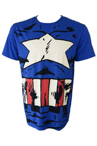 Captain America t-shirt, blue, red and white
