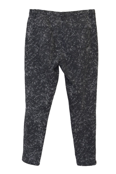 Yarra Trail women's grey pants, stonewash-look, back view