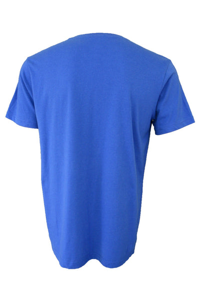 Captain America blue t-shirt, back view