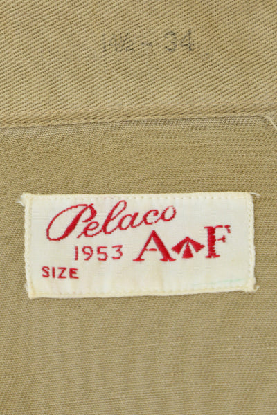 Vintage Pelaco army shirt label