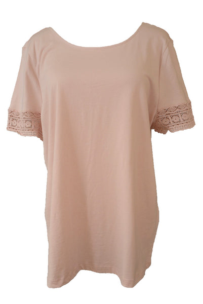 Pale pink Piper ladies t-shirt