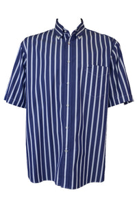 Paul & Shark men's blue striped short-sleeve shirt