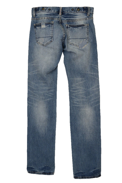 Recycled Selvedge denim women's jeans, back view