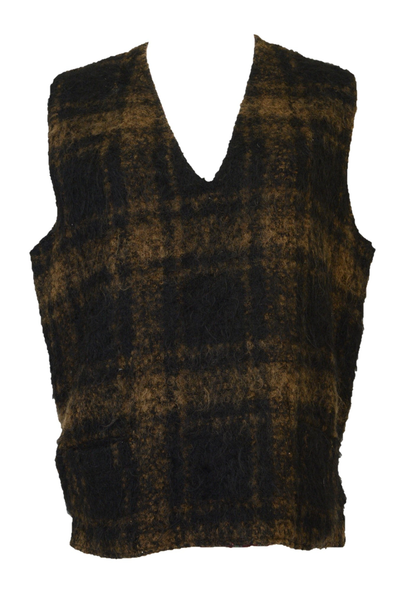 Vintage wool vest, mohair finish