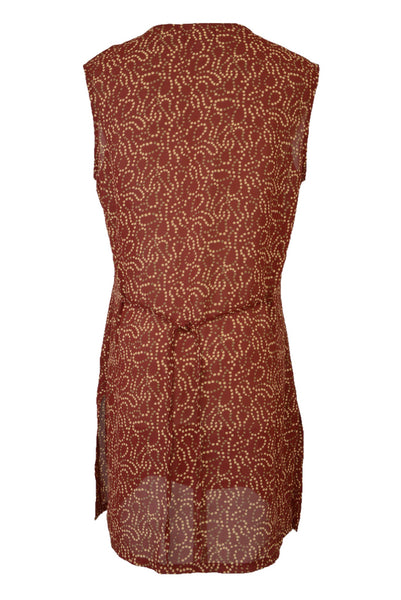 Preloved vintage Sussan red sleeveless tunic dress, back view