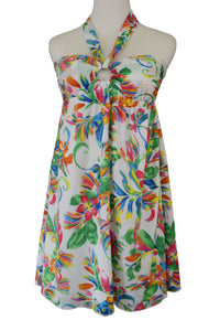 2Chillies summer floral beach dress, front view