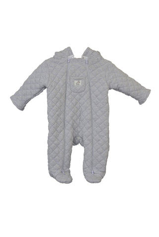 Preloved Ollie's Place quilted baby romper, grey