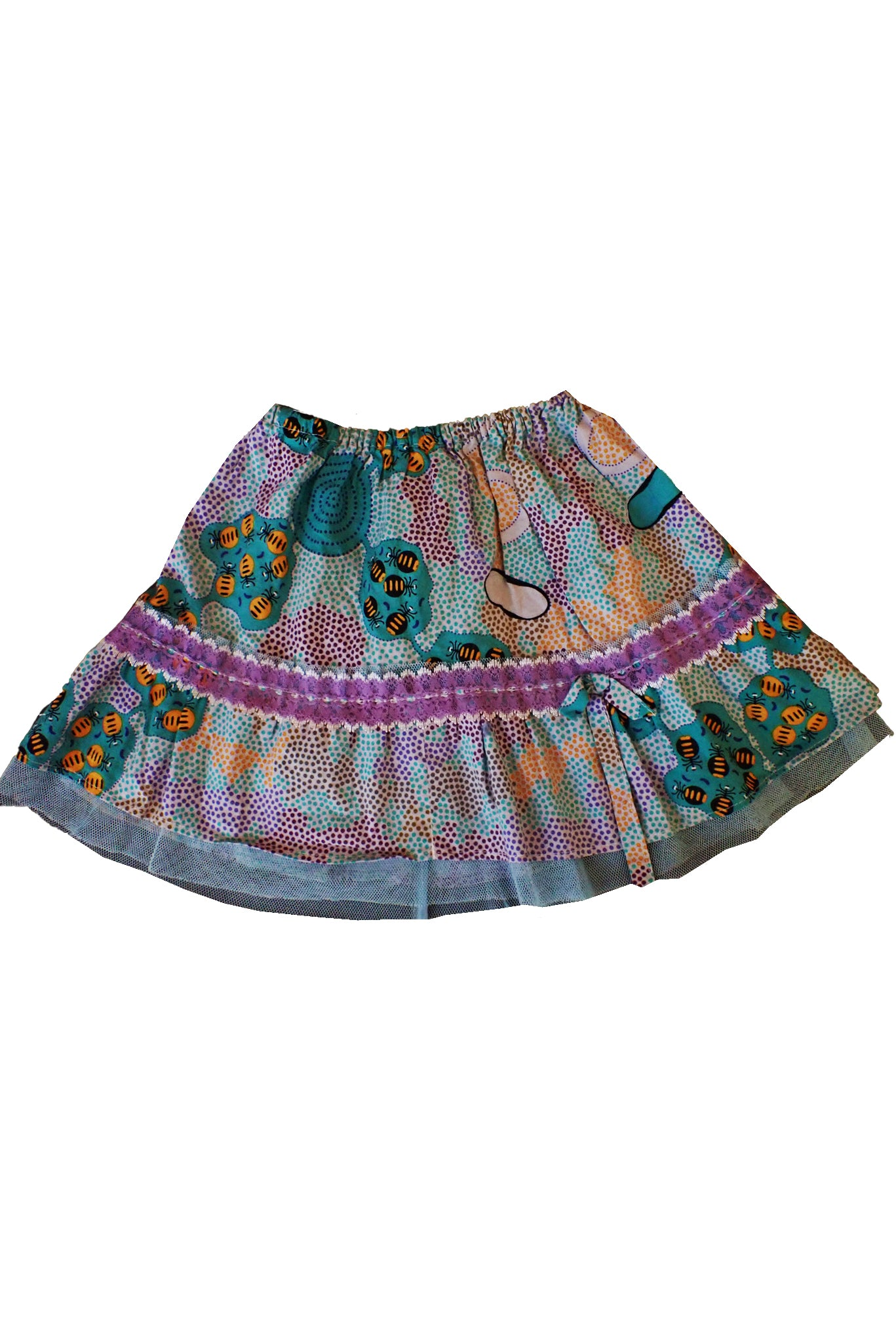 Toddler skirt handmade with Audrey Martin Honey Ant fabric