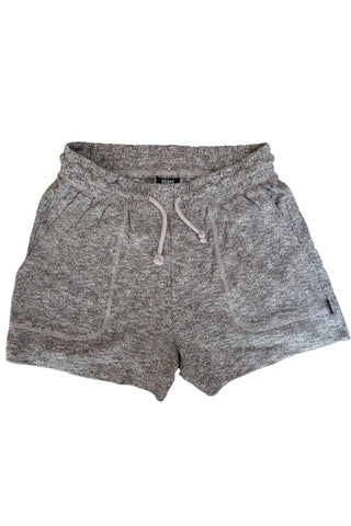 Grey marle women's bonds shorts front