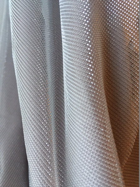 NWT Boohoo silver skater skirt - close-up of fabric