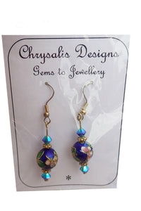 Chrysalis crystal handmade earrings new in packet