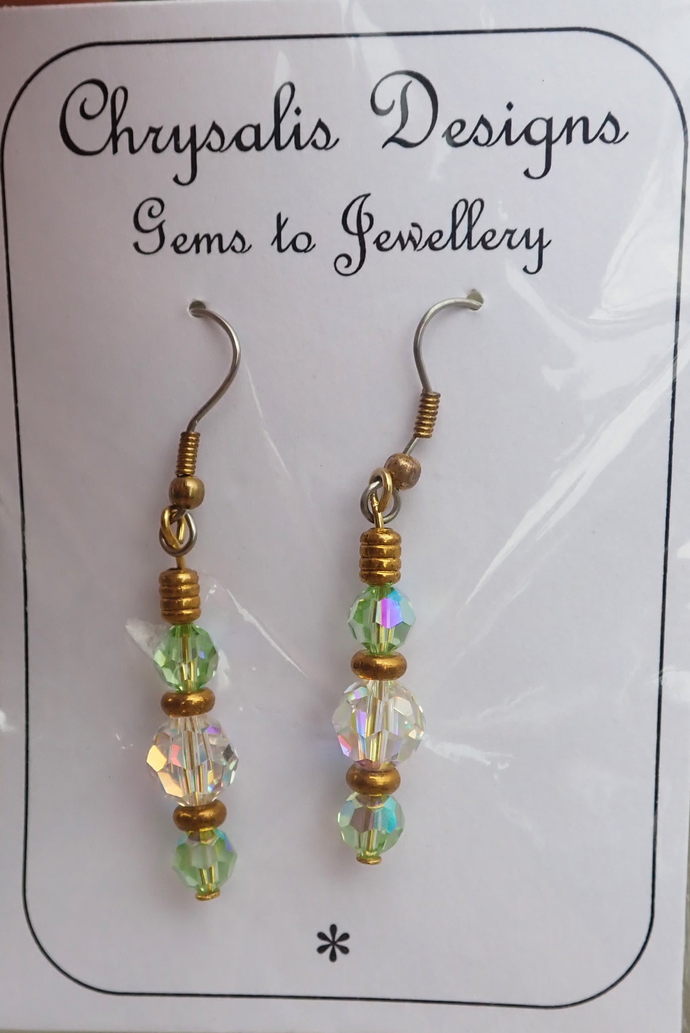 Chrysalis Swarovski crystal handmade earrings new in packet