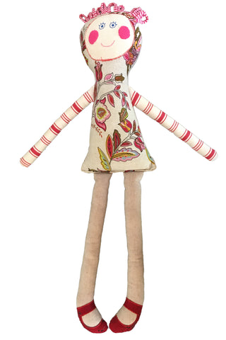 Handmade fabric doll - front