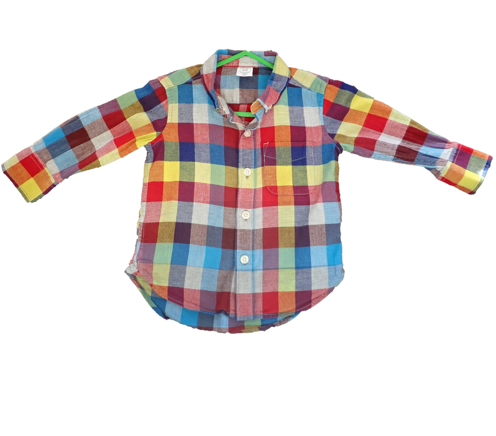Baby Gap chequered shirt front