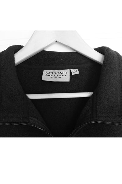 Men's Kathmandu black XL fleece vest - label