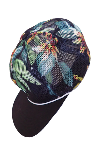 O'Neill floral snapback mesh cap side