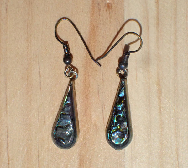 Alpaca Mexico Vintage Abalone Earrings