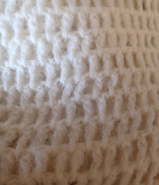 handmade vintage knit top - close up