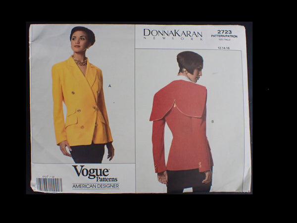 Vintage Donna Karan Vogue sewing pattern in packet