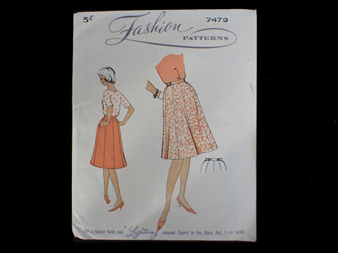 Vintage sewing pattern for skirt
