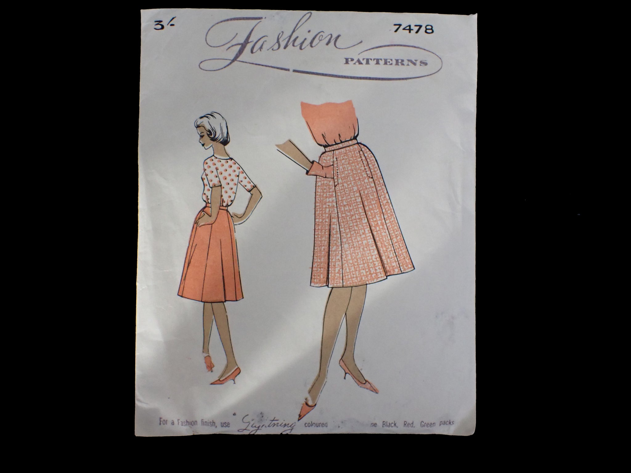 Vintage sewing pattern in packet