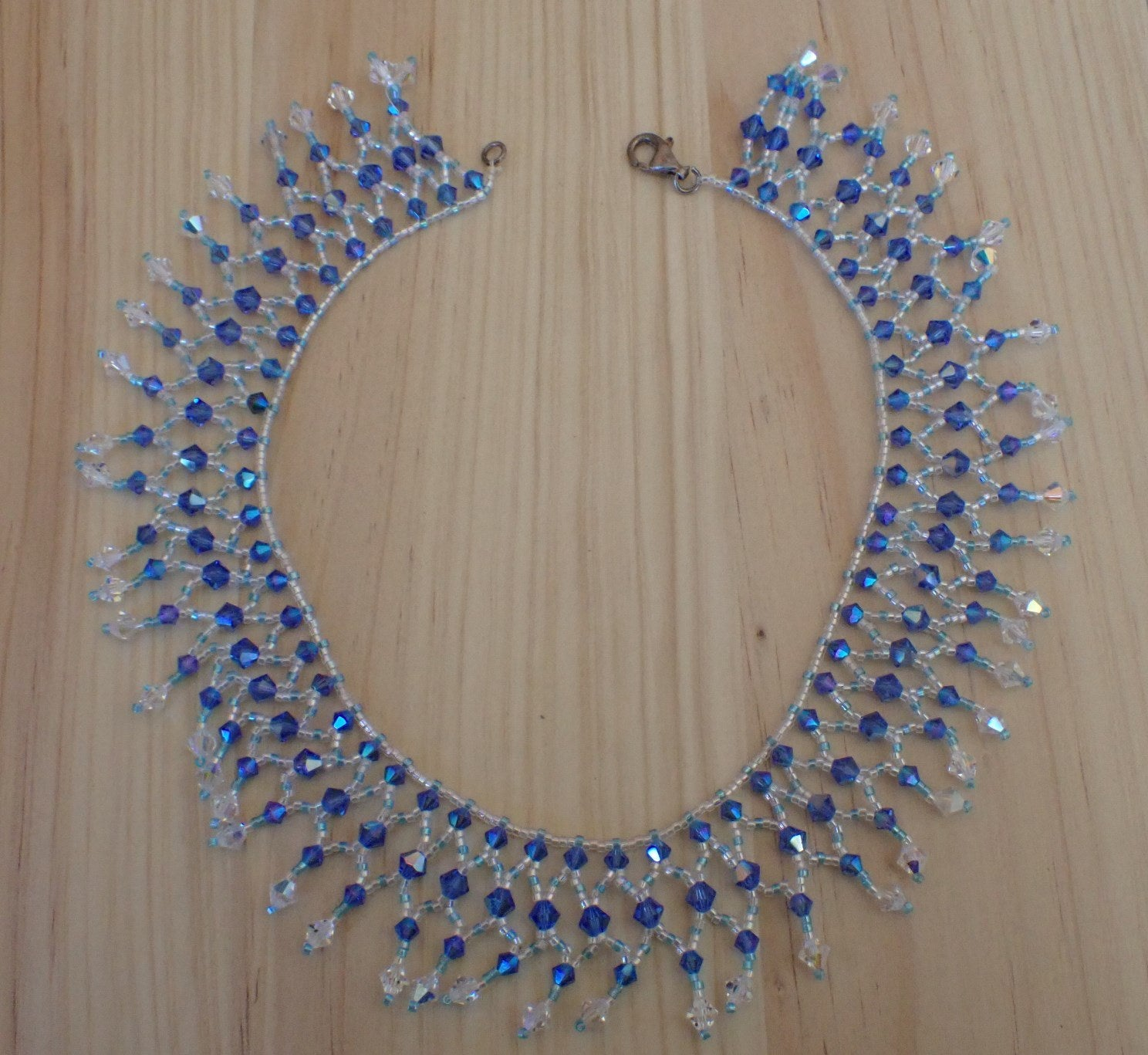 NWOT Swarovski and bead choker