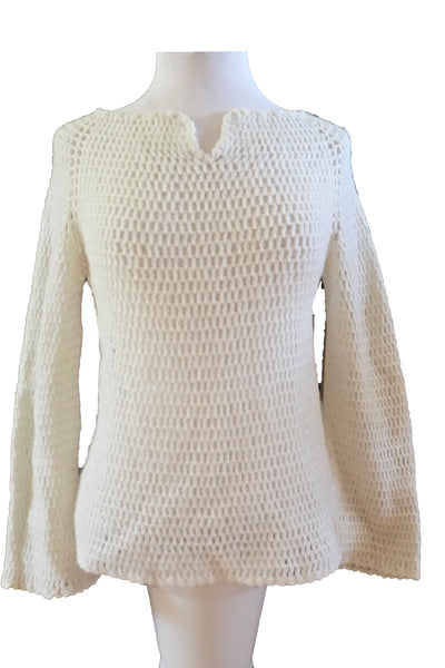 handmade vintage knit top - front