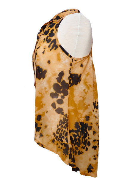 Sportsgirl animal print top, size S, side view