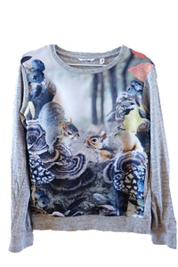 Pavement squirrel print jumper front