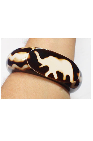 Elephant bangle on arm