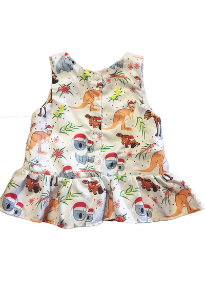 Aussie Christmas dress for baby, back